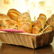 Bread assortment in a basket — Stock Photo #6780431
