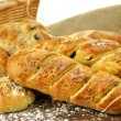 Fresh homemade bread assortment — Stock Photo