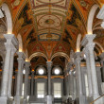 Interior of Library of Congress, Washington DC,USA — Stock Photo