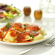 Royalty-Free Stock Photo: Ravioli pasta with red tomato sauce