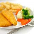 Fish fillets dinner — Stock Photo
