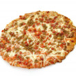 Mini pizza with sausage and pepperoni — Stock Photo