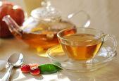 Verse groene thee — Stockfoto