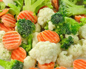 Dondurulmuş sebzeler — Stok fotoğraf