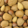 Stock Photo: Mixed nuts background