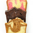 Assortment of loaf cake slices — Stock Photo