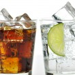 The sweet cooled drinks with ice — Stock Photo