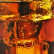 Drink with ice,close up — Stock Photo