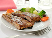 Pork ribs with barbecue sauce — Stock Photo