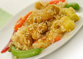Sesame orange chicken — Stock Photo