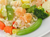 Sweet and sour shrimp dinner — Stock Photo