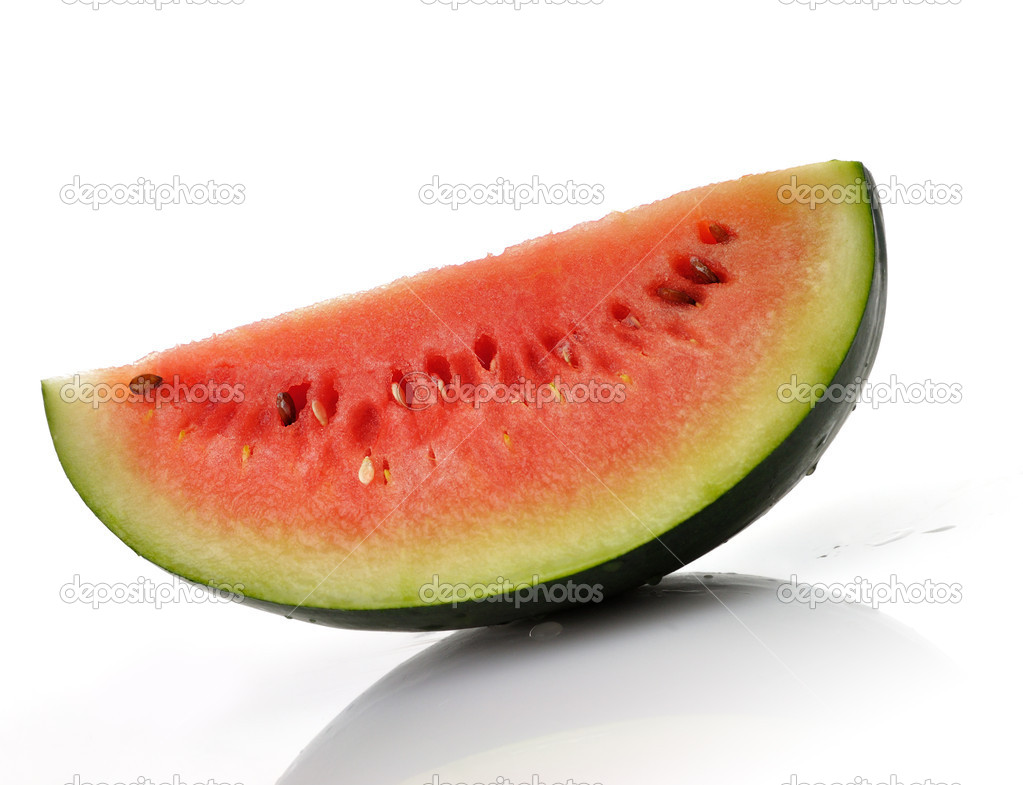 A slice of Watermelon on white background — Stock Photo #6822318