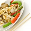 Stock Photo: Dumplings with vegetables
