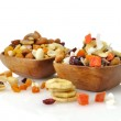 Mixed dried fruit, nuts and seeds — Stock Photo #7048906