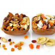 Mixed dried fruit, nuts and seeds — Stock Photo