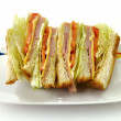 Turkey Or Ham Club Sandwich — Stock Photo #7362613