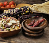 Bean Mix And Spices — Stock Photo
