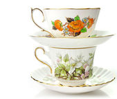 Vintage Coffee Or Tea Cups — Stock Photo