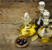 Cooking Oil And Vinegar — Stock Photo