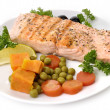 Salmon Fillet With Vegetables — Stock Photo #7749427