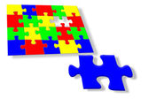 Colorful jigsaw puzzle — Stock Photo