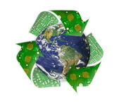 Green earth recycle, electronic waste concept — Foto de Stock