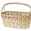 Basket made from newspaper — Stock Photo