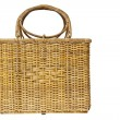 Wicker basket isolated on white background — Stok fotoğraf