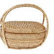 Wicker basket isolated on white background — Foto de Stock