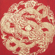Photo: Abstract, Gold Dragon on silk