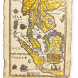 Antique map, Thailand — Stock Photo