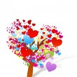 Valentine tree with hearts — Stock Photo