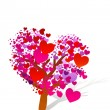 Valentine tree with hearts — Stock Photo #7221138