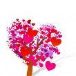 Valentine tree with hearts — Stock Photo