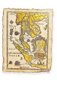 Antique map, Thailand — Fotografia Stock