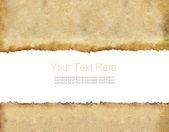 旧的 grunge 纸与暂存空间和示例文本 — 图库照片