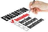 Evaluatie kwaliteit enquête — Stockfoto