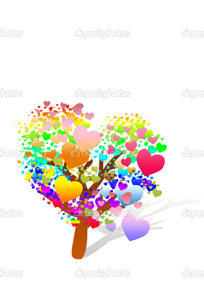 Valentine tree with hearts — Stock Photo #7221111