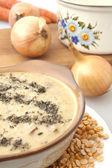 Closeup of a pea soup — Stock Photo