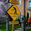 Zombie Crossing Sign — Stock Photo #7022809