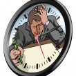 Royalty-Free Stock Vector Image: Stressed man clock concept