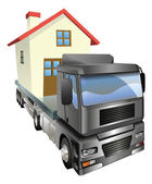 Moving house truck concept — Stock Vector