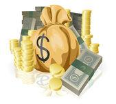 Lots of money — Stock Vector