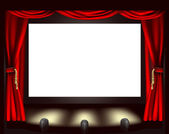 Cinema screen — Stock Vector