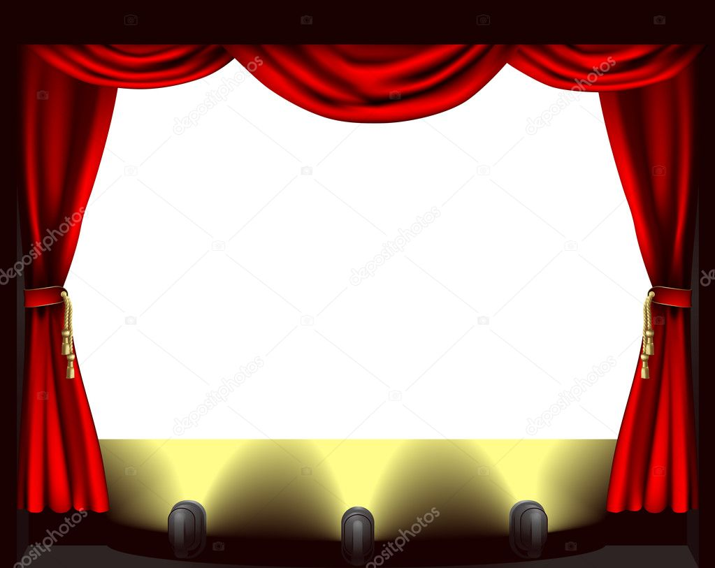 Theatre stage — Stock Vector © Krisdog #7097391