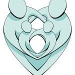 Heart Family Concept Graphic — Stock Vector