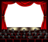 Cinema with audience — Stock Vector