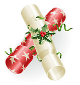 Christmas crackers — Stock Vector