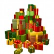 Illustration of large pile of gifts — Stock Vector #7306883