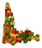 圣诞礼品角设计元素 — 图库矢量图片